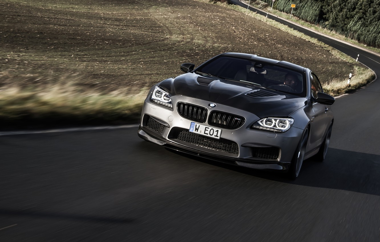 Photo wallpaper BMW, front, silvery, F13, Manhart, MH6 700