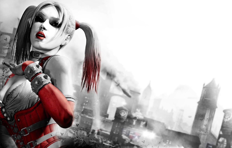 Photo wallpaper batman, arkham city, harley quinn, Harley Quinn