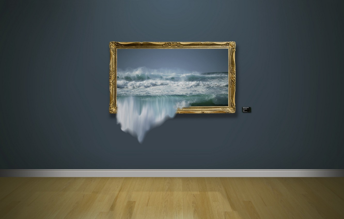 Photo wallpaper wave, wall, picture