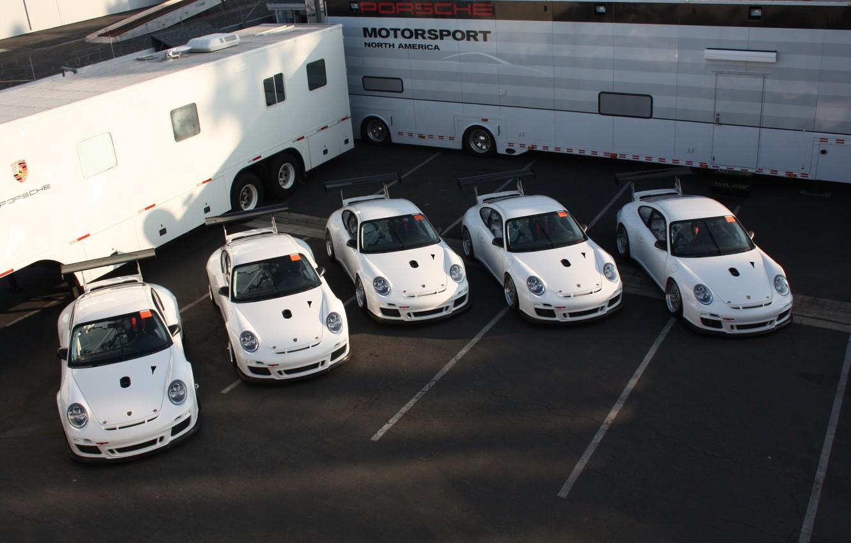 Photo wallpaper white, Porsche, Porsche Develops New 911 GT3, vans, Kara
