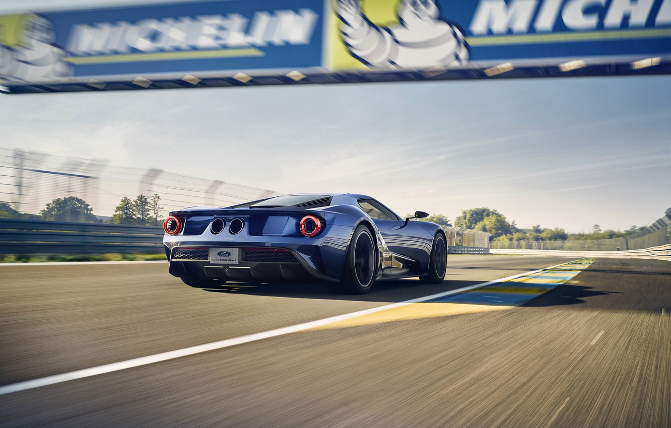 Photo wallpaper machine, speed, track, Ford, speed, back, track