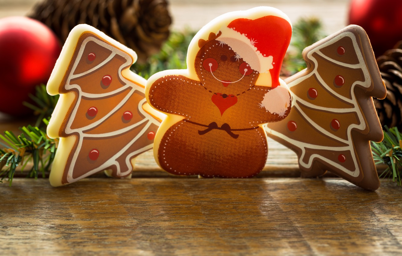 Photo wallpaper food, New Year, cookies, Christmas, christmas, Christmas, food, cakes, holidays, New Year, cookies, Holidays, Christmas