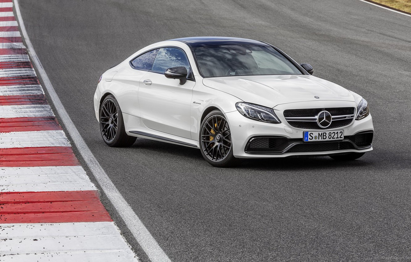 Photo wallpaper Mercedes, coupe, amg, c63