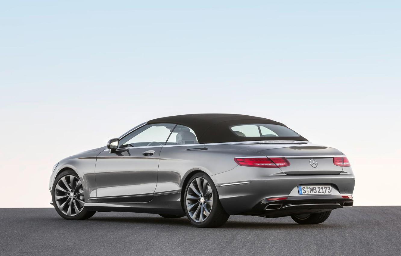 Photo wallpaper Mercedes-Benz, Mercedes, Cabriolet, Back, S500, The top