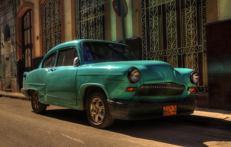 Wallpaper Retro Street Car Cuba Havana Images For