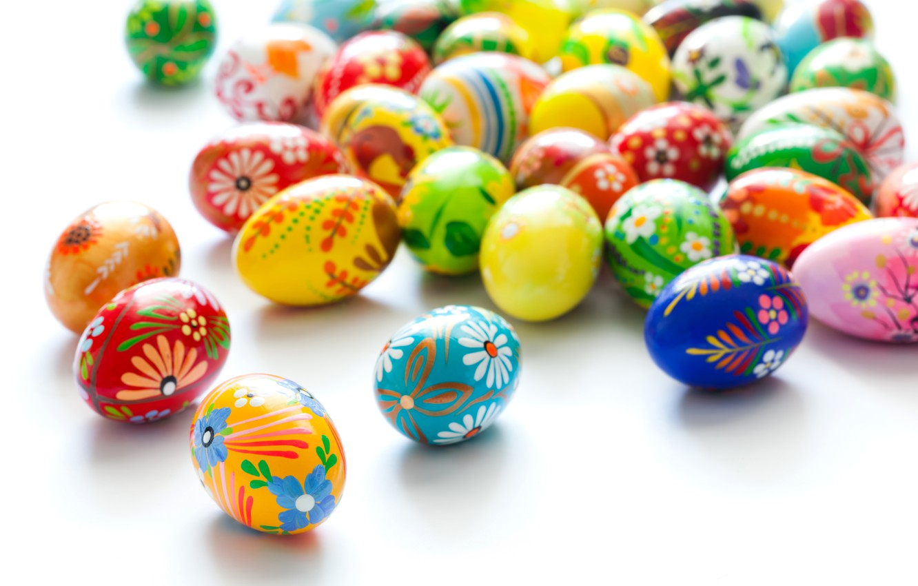 Photo wallpaper Easter, Eggs, Holiday, A lot, Easter