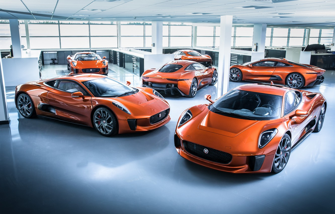 Photo wallpaper Jaguar, Jaguar, supercar, C-X75
