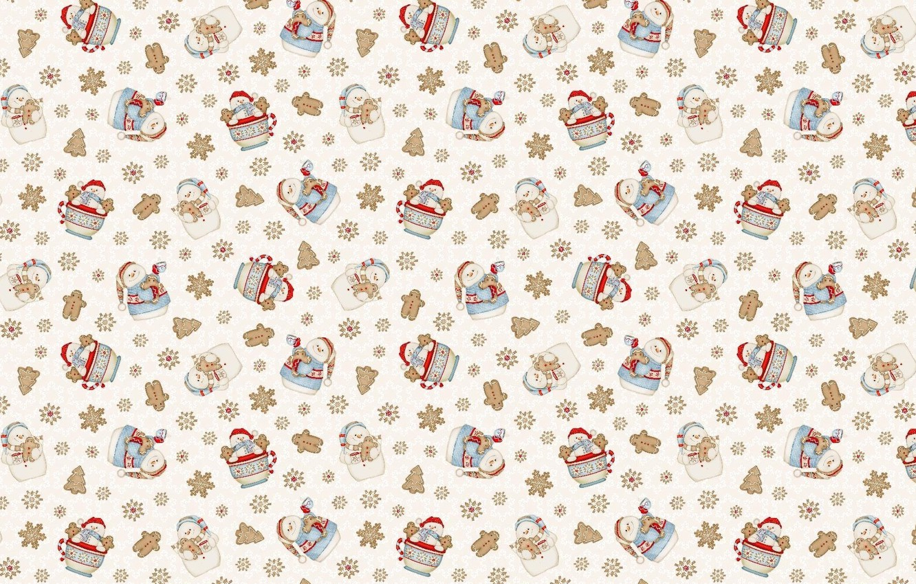 Photo wallpaper background, holiday, texture, New year, snowman