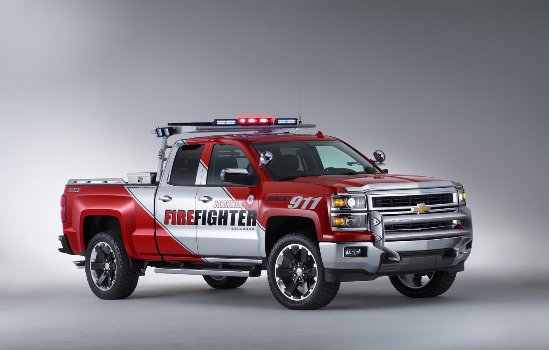 Photo wallpaper pickup, Chevrolet Volunteer, Firefighter