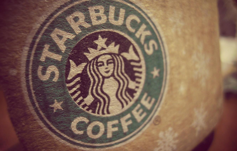 Photo wallpaper brand, starbucks, Starbucks