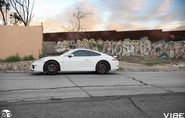 Photo wallpaper graffiti, 911, Porsche, side, ZS05, Vibe, Zito