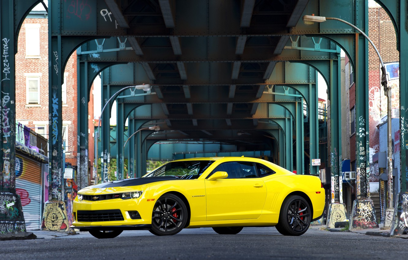 Photo wallpaper Chevrolet, Camaro, 1LE, 2014