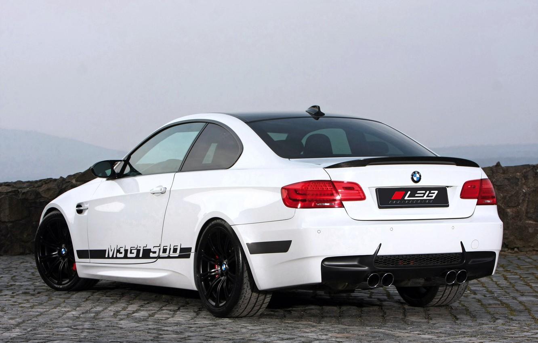 Photo wallpaper White, BMW, Street, BMW, GT 500, Coupe, Rear view