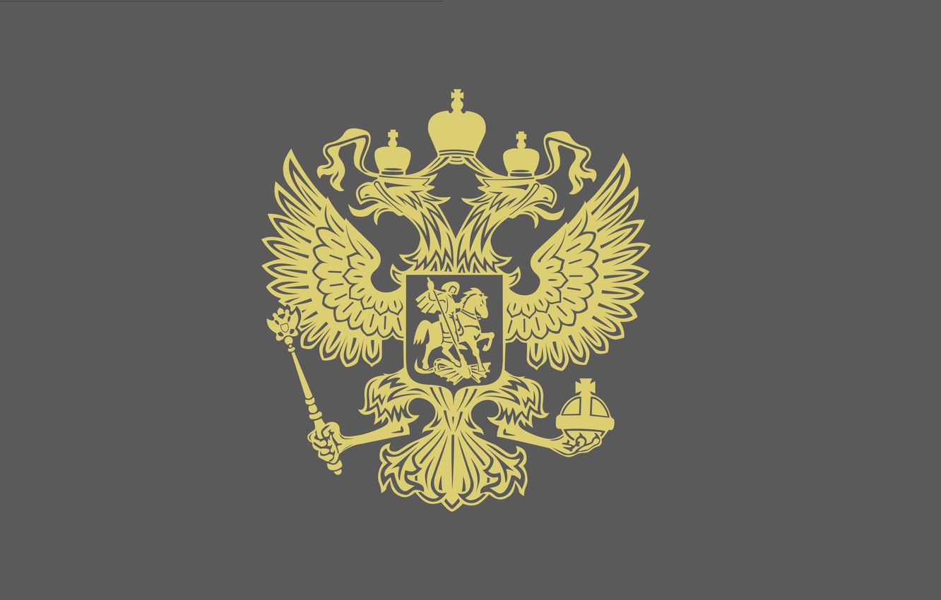 Photo wallpaper Minimalism, The Wallpapers, The Coat Of Arms Of The Russian Federation