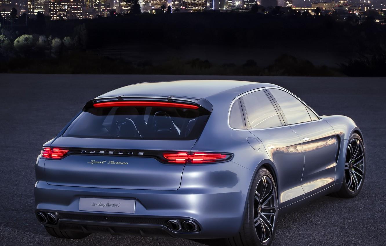 Photo wallpaper Concept, Porsche, Panamera, Porsche, back, Sport Turismo