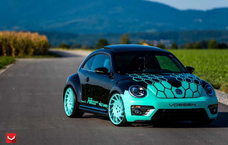 Photo wallpaper machine, auto, Volkswagen, wheels, drives, auto, Beetle, Vossen Wheels