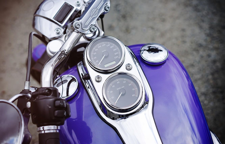 Photo wallpaper speedometer, motorcycle, Harley, bike, tank