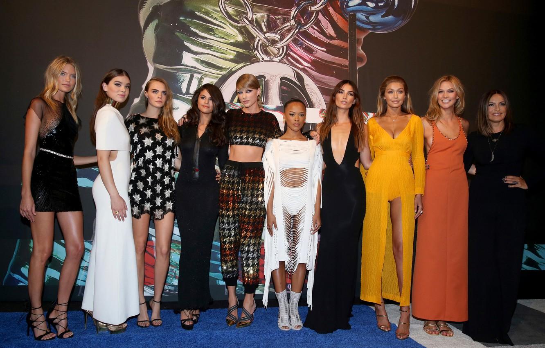 Photo wallpaper Taylor Swift, MTV, Selena Gomez, Cara Delevingne, Hailee Steinfeld, 2015, Music Awards