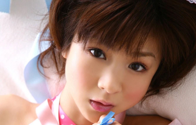 Photo wallpaper look, girl, Asian, aki hoshino