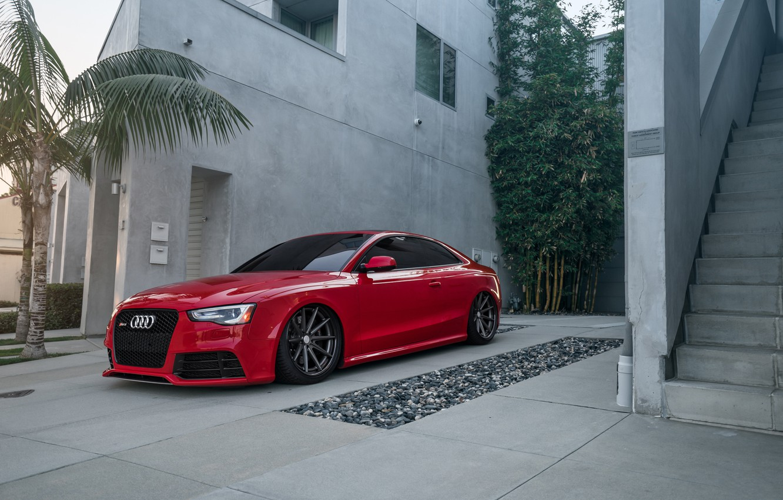 Photo wallpaper Audi, RS5, Vossen, Wheels
