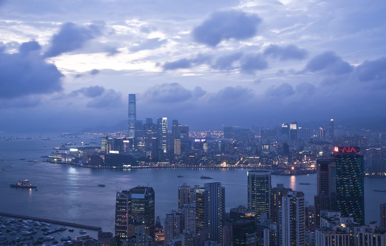 Photo wallpaper city, wallpaper, hongkong