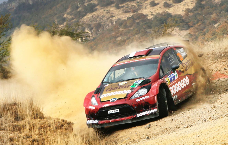 Photo wallpaper Ford, Dust, WRC, Rally, Fiesta
