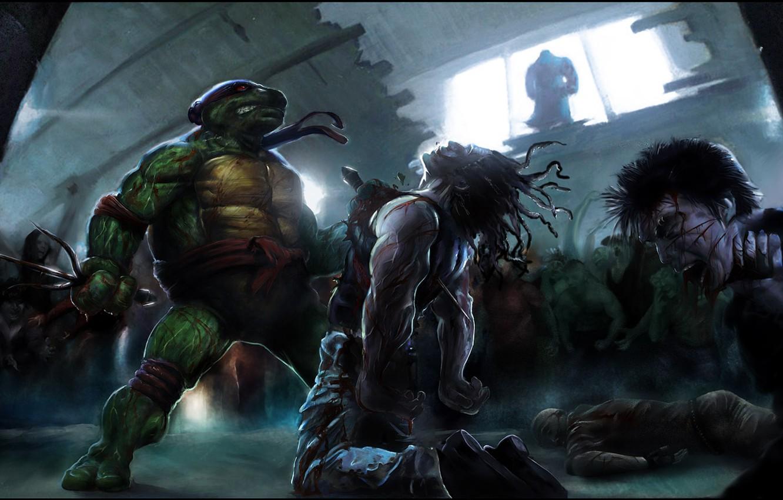 Photo wallpaper Teenage mutant ninja turtles, NINJA TURTLES, Rafael