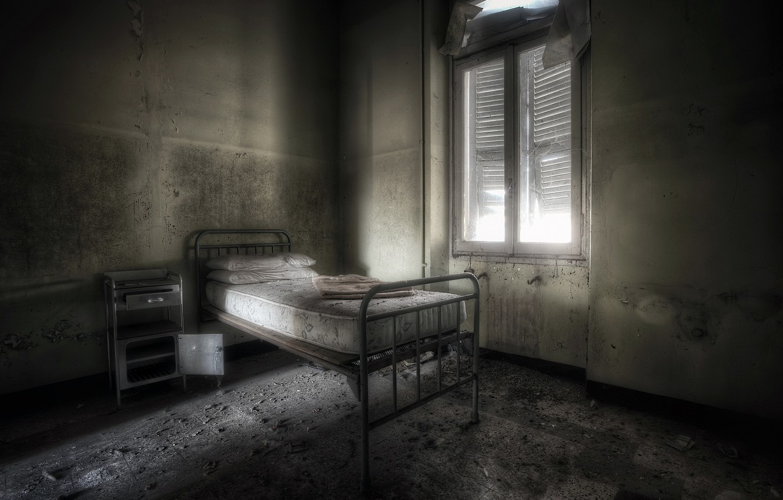Photo wallpaper room, bed, window