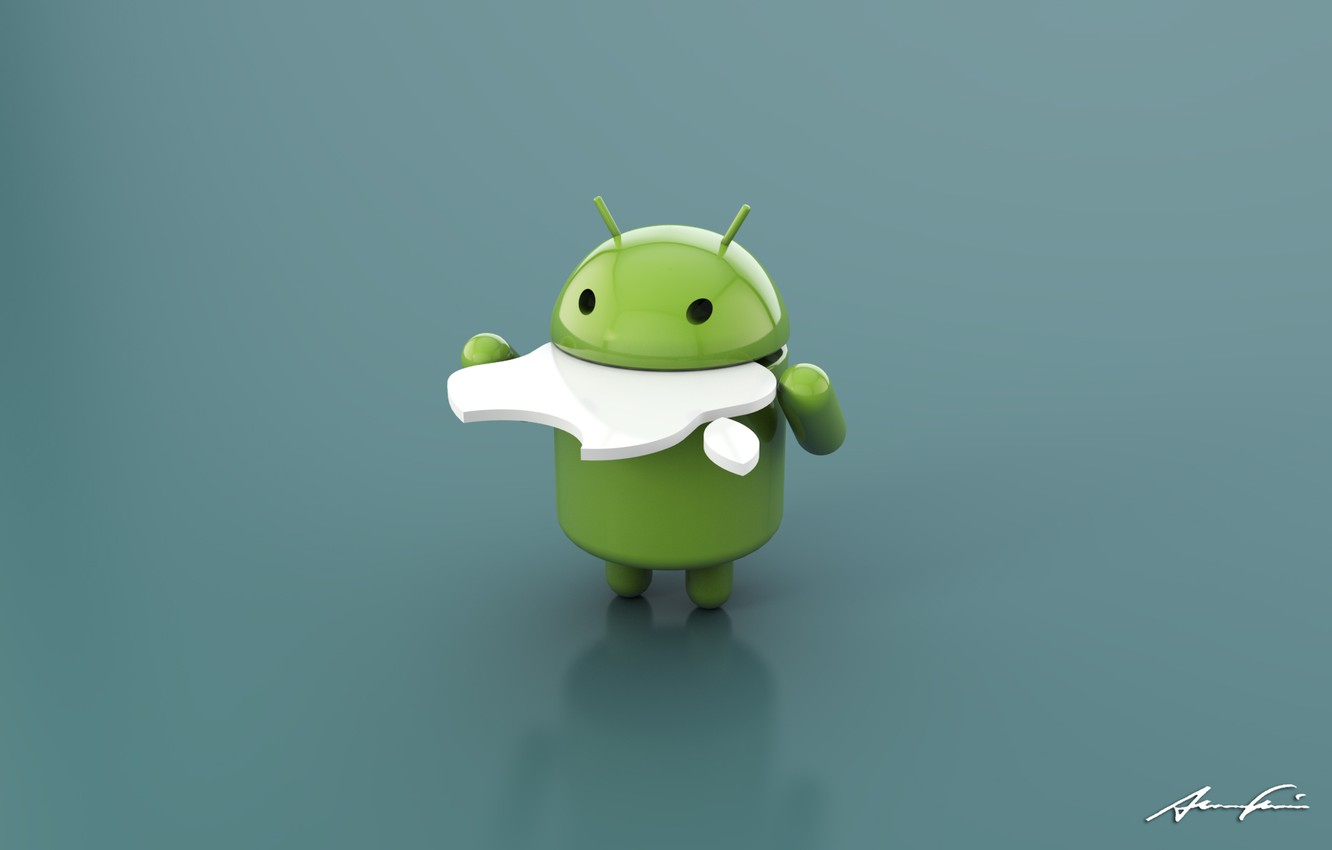 Photo wallpaper Apple, Android, Android, hi-tech, accutanee Apple