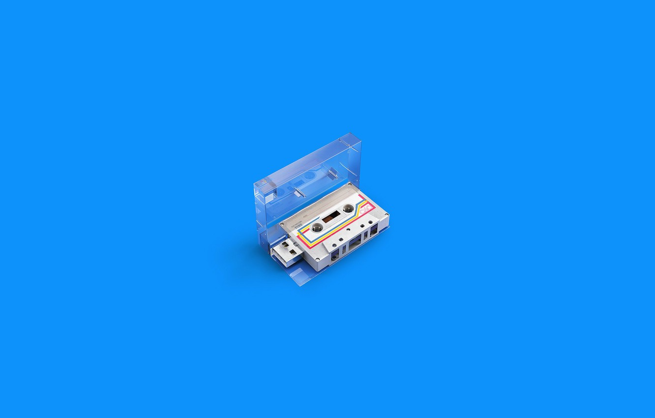 Photo wallpaper Minimalism, Art, Wallpaper, Minimalism, The Wallpapers, Andrei Lacatusu, Memories Stick, Audio cassette, Audio cassettes