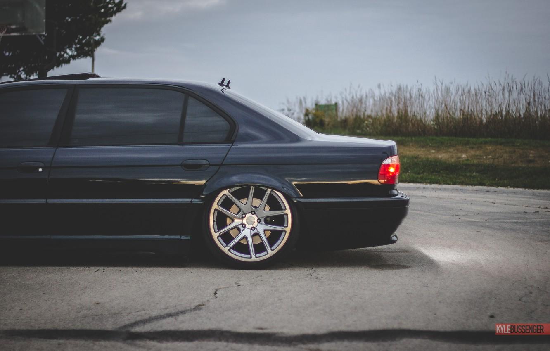Photo wallpaper BMW, Boomer, BMW, tuning, Stance, E38, 7iL