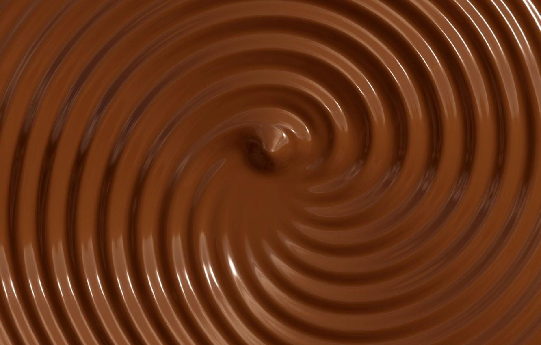 Photo wallpaper circles, chocolate, texture, brown background, liquid