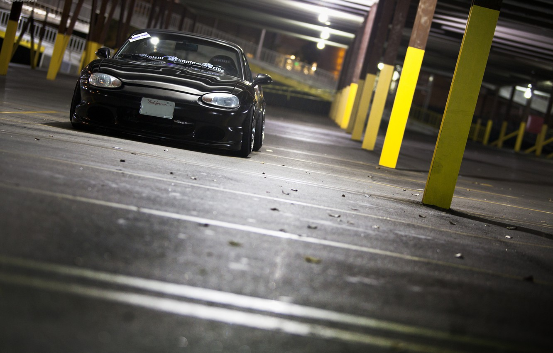Photo wallpaper Mazda, black, jdm, Miata
