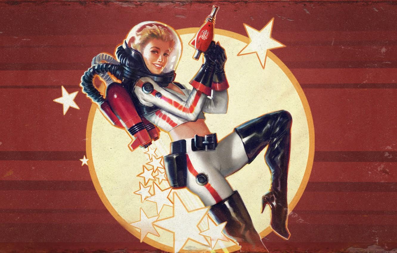 Photo wallpaper Girl, Look, Art, DLC, Bethesda Softworks, Bethesda, Bethesda Game Studios, Fallout 4, The Art of …