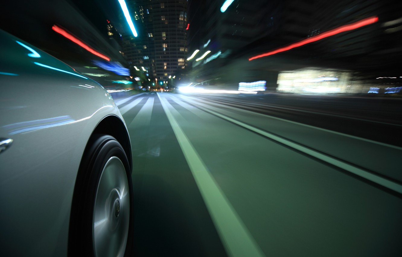 Photo wallpaper road, macro, light, lights, reflection, strip, movement, city, markup, speed, excerpt, wheel, blur, disk, car, …