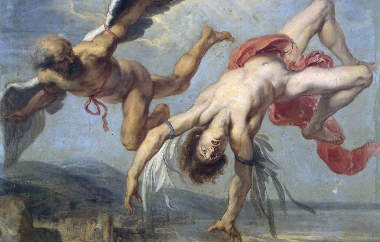 Photo wallpaper picture, mythology, Jacob Peter Howie, The Fall Of Icarus