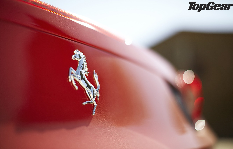Photo wallpaper macro, red, logo, Ferrari, supercar, emblem, Ferrari, 458, top gear, Italy, spider, the best TV …