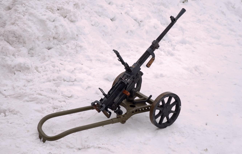 Photo wallpaper weapons, war, machine gun, Soviet, world, Second, times
