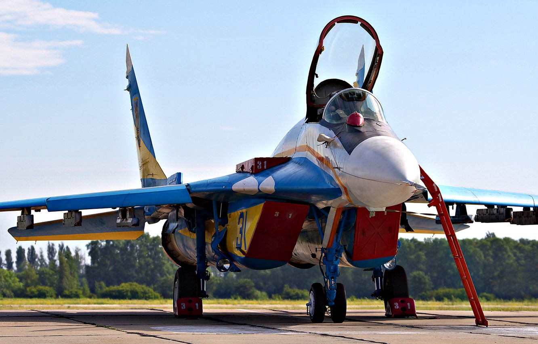 Photo wallpaper the sky, Ukraine, MiG 29, Ukrainian falcons