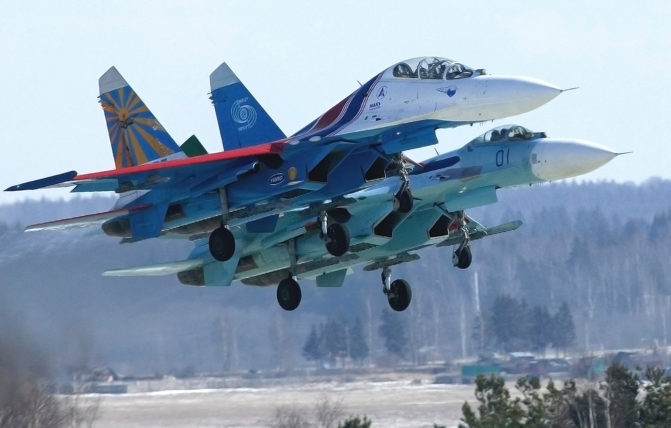 Wallpaper The Plane Forest Fighter Day Wings Russia