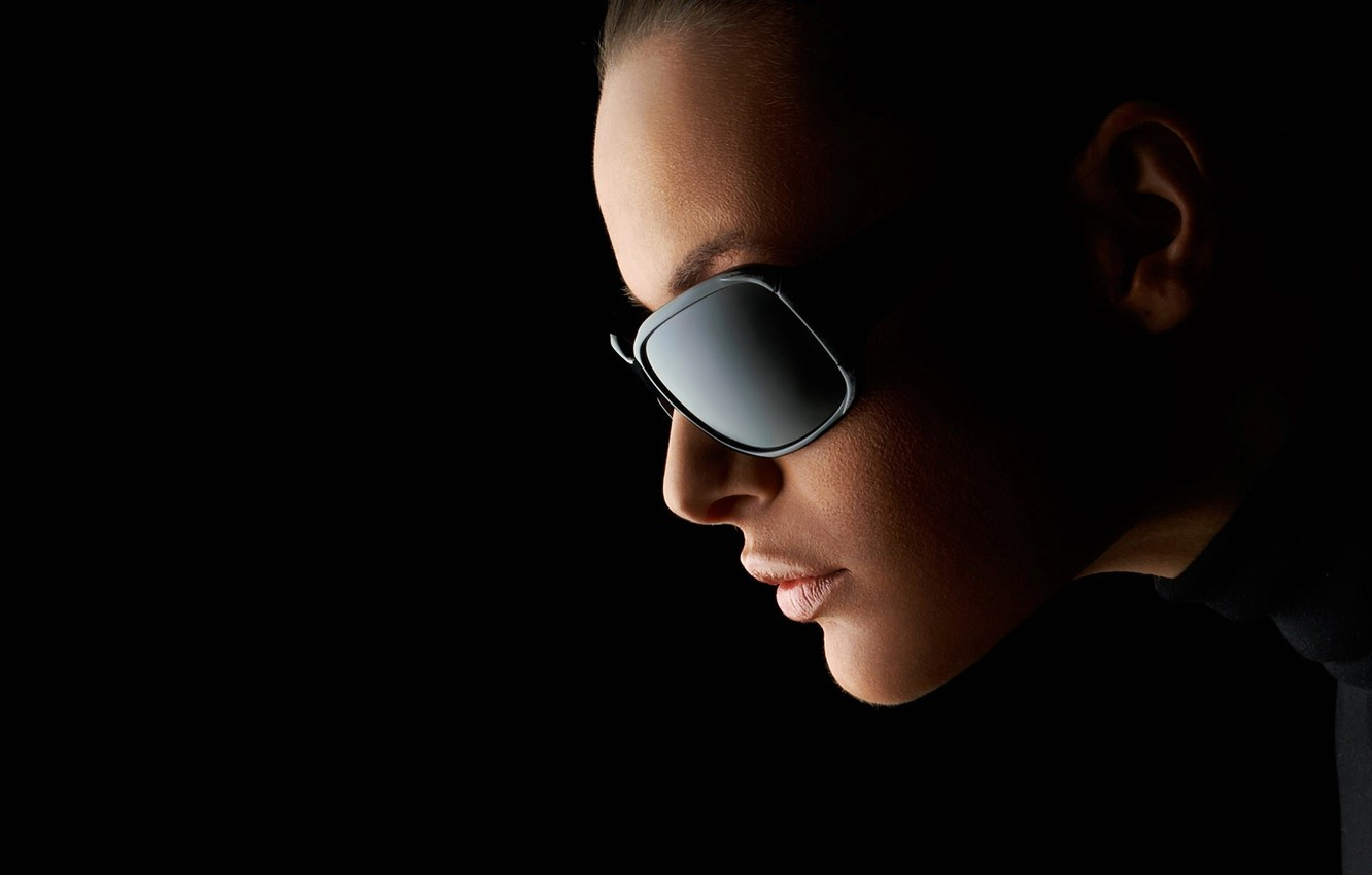Wallpaper Dark Woman Mood Serious Sunglasses Images For