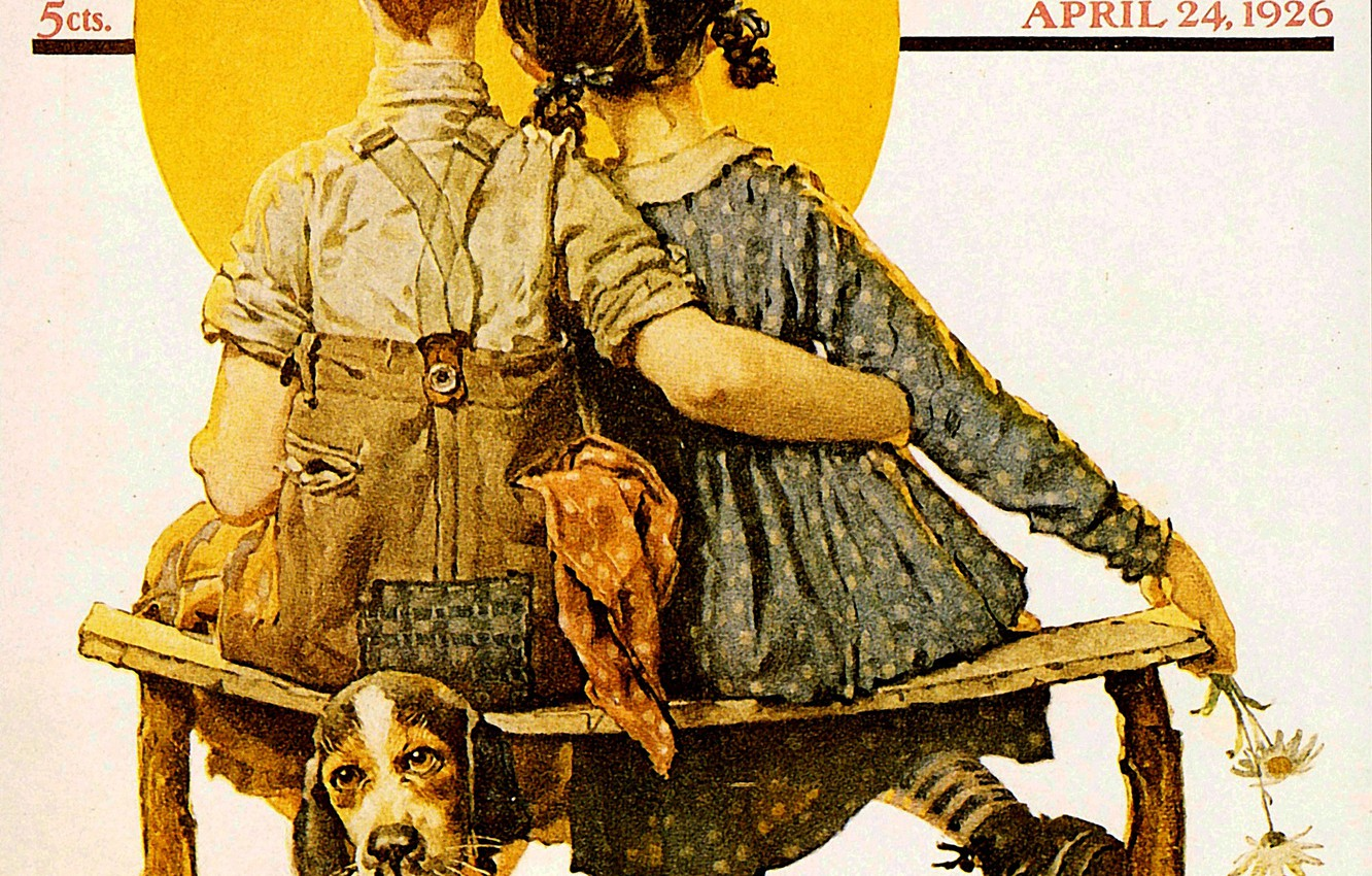 Wallpaper Girlfriend Talent Norman Rockwell Humoristic