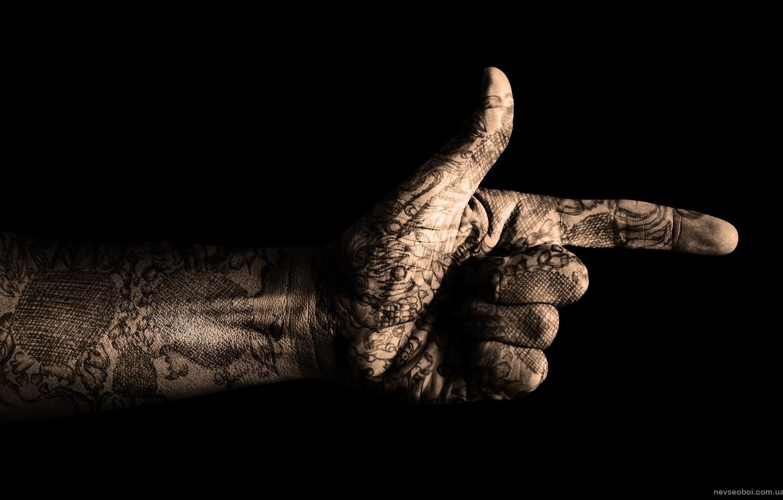 Photo wallpaper style, hand, gesture