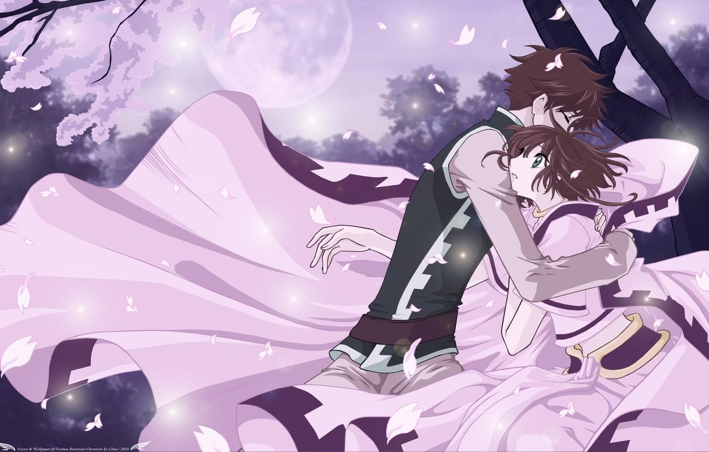 Photo wallpaper girl, romance, anime, art, hugs, guy, Tsubasa Reservoir Chronicles