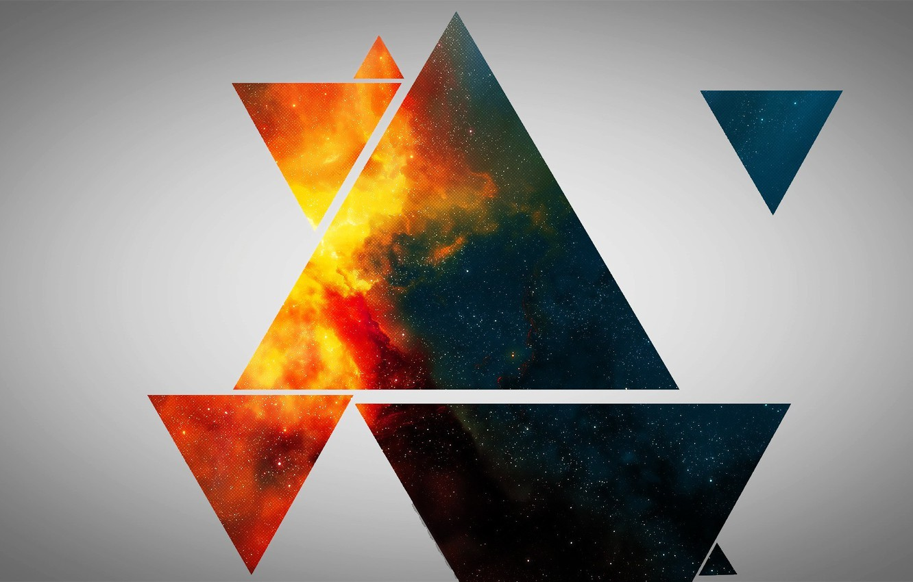 Photo wallpaper background, abstraction, triangles