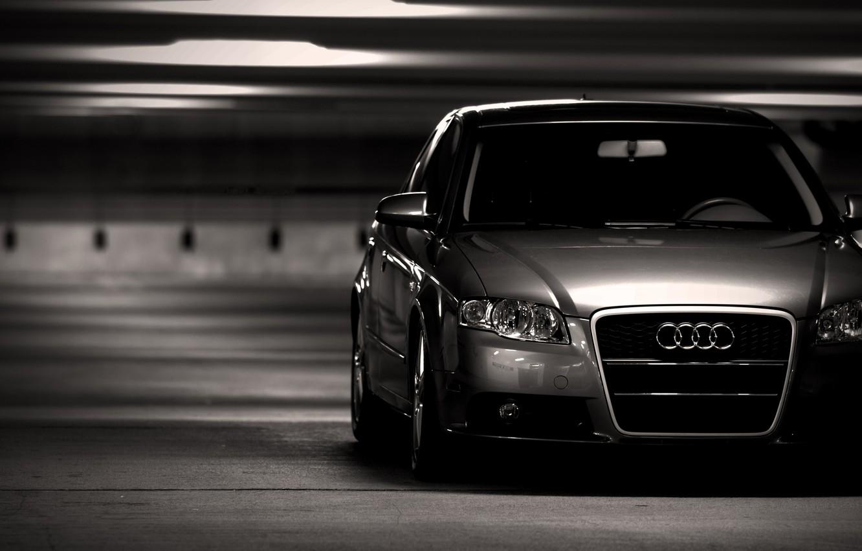 Photo wallpaper photo, Audi, City, cars, auto, wallpapers auto, Parking, Audi a4, wallpapers audi