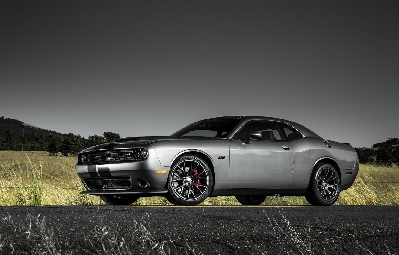 Photo wallpaper srt, Dodge, dodge challenger, muscle car