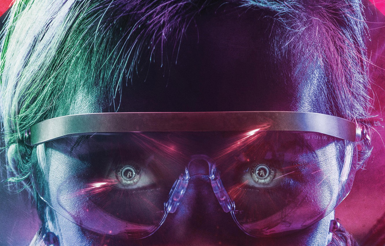 Wallpaper Cinema Red Fantasy Blue Eyes Man Neon Movie