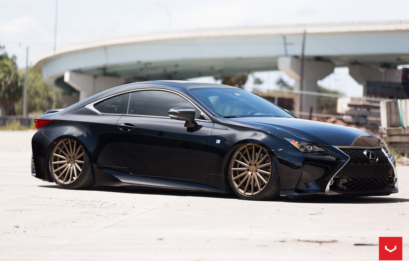 Photo wallpaper Lexus, Vossen, Wheels, Bronze, VFS2, 2015 - 1014