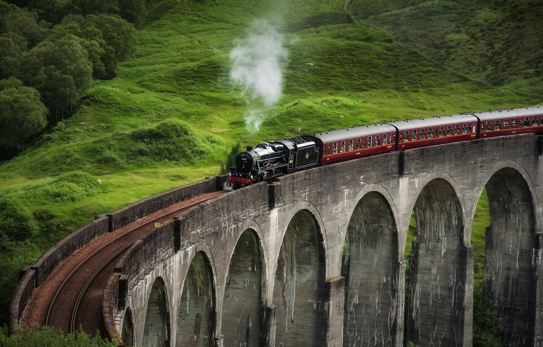 Photo wallpaper bridge, the engine, UK